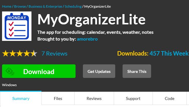 MyOrganizerLite – Organize Things the Easier Way