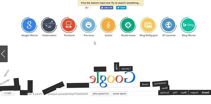 Google Gravity Im Feeling Lucky Search Tricks
