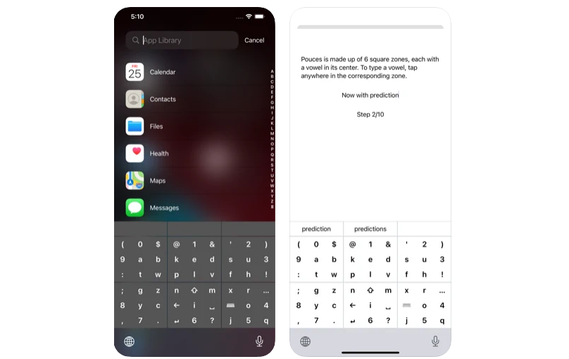Pouces – Your Handy Typing Assistant